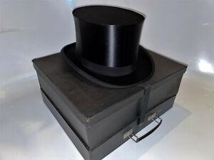 Zylinder Hut Chapeau Claque Klappzylinder Top Hat 59 / 60 XXL NEUZUSTAND - NEW