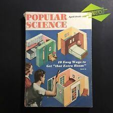 APRIL 1948 'POPULAR SCIENCE' RETRO HOUSE DESIGN MAKE EXTRA ROOM CARPENTRY