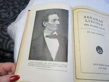 Abraham Lincoln The Prairie Years By Carol Sandburg 1926 Very Old Book