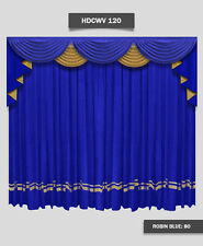 Saaria HDCWV-120 Home Theater Stage Movie Screen Decor Curtains Drapes 8'W x 8'H