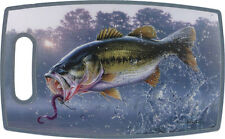 RIVERS EDGE - Antibacterial CUTTING BOARD - BASS - KEEPS KNIVES SHARP - NEW