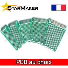 Carte Prototypage PCB Board perforée 2.54mm Double face - Dimensions au choix