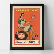 More details for retro bovril advert, 1947 - unframed a4 poster print