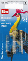 Prym Assorted Embroidery Crewel Needles with Gold Eye Size No. 5-10 (125543)