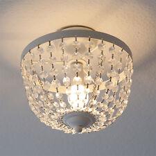 Deckenlampe CHATEAU weiß shabby chic Deckenleuchte mit Kristallen Kronleuchter