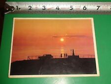 JC581 Vintage Postcard Sunset Norway Text of Card Says Special Stamp