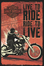 Harley-Davidson Motorcycles LIVE TO RIDE, RIDE TO LIVE Official POSTER