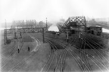 Boston & Maine (B&M) Looking north at Boston Train Yards in 1890 - 8x10 Photo