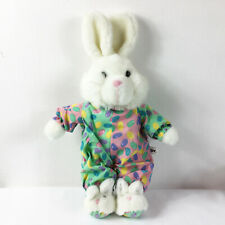 """TB6 Vintage Easter Bunny Jelly Beans Eggs Slippers Plush 14"""" Stuffed Toy Lovey"""