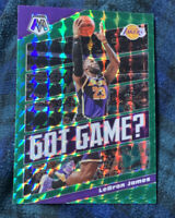 ⭐️👀LeBron James 2019 Panini Mosaic Got Game? Green Prizm #7 ⭐️Very Clean⭐️