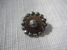 """Vintage Small 5/8"""" Steel Metal Button, Cuts Steels Border, Shell Disc - M50"""