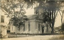 RPPC DB Postcard NY F312 Lutheran Church Gallupville Real Photo Street View