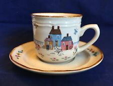 International Stoneware Heartland Japan Farm Animal Design Tea Cup And Saucer