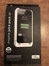 Mophie Juice Pack Air Battery Case for Apple IPHONE 4 White Brand New