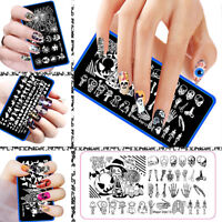 Halloween Manicure Template Nail Art Image Stamping Polish Print Plate Stamper