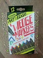 12 Count Crayola Art with Edge Chisel Tip Assorted Wedge Markers Nib