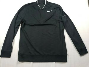 Nike Golf Dri-Fit Mens Size L 1/4 Zip Long Sleeve Pullover Gray