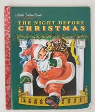 Little Golden Book Classic The Night Before Christmas 1949 Education Reading