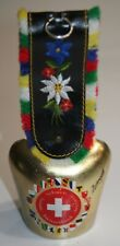 New listing Rustic Hand Painted Metal Cow Bell From Switzerland Farmhouse Decor