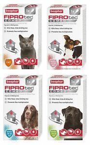 BEAPHAR FIPROtec COMBO Flea Tick Lice Spot On Solution CAT DOG S M L 1 3 Pippett