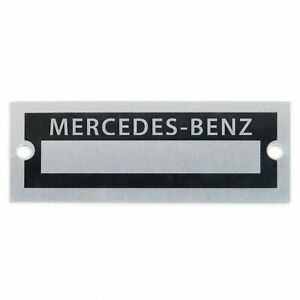 Mercedes Benz Custom Identification Data Plate Serial Number # ID Tag SL 230 300
