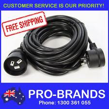 10-Metre Power Extension Lead 1.5mm Cord Cable Piggy Back Black 10M Piggyback