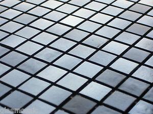 Glasmosaik Mosaik Fliesen Dusche/Pool PERLMUTT EFFEKT SchwarzChrome *NEU*  (49)