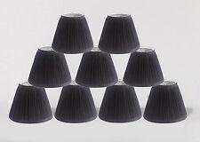 "Urbanest Random Mushroom Pleat Chandelier Lamp Shades,3""x 6""x 5"",Black, set of 9"