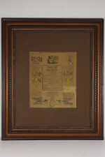 1821 Birth Baptism Marriage Certificate Taufschein Sell Spangler PA Dutch German