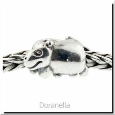 Authentic Trollbeads Sterling Silver 11215 Hippopotamus :0 RETIRED