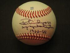 Yankee Legend Ron Guidry Autograph Baseball Inscribed Ny Yankee Captain 1986-88