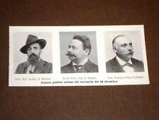 Terremoto in Calabria e Sicilia 28 dicembre 1909 Onorevole Noè, Fulci e Tripepi