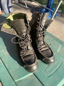 Vintage Cabela's BlackGreen Leather Hunting Boots. Size 9 B VTG Hunter Old 26229