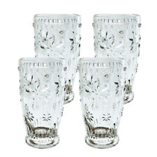 Set of 4 - Old Fashion Snow glass Elegant Barware and Drinkware Clear