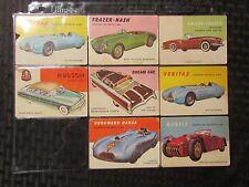 1954 WORLD ON WHEELS Topps Trading Cards LOT of 8 VG- to VG+ Nash Hudson Veritas