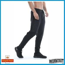 Golds Gym Embossed Jog Pants Jogger Brand New Black Gym Bodybuilding Fitness