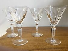 """FOUR Waterford SHEILA Water Goblets 7"""" Ireland Made New Old Stock Mint"""