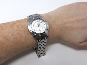 A Super Genuine Stainless Steel Ladies Diamond Pandora Quartz Wristwatch #28787