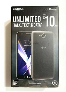 LG X Charge Unlmtd Prepaid Black 16GB 5.5in 2GB RAM Black Android Unreal Mobile