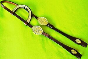 BEAUTIFUL Vintage Silver Show HEADSTALL Bridle~NICE Clean Con~Maker Mark~USA~NR