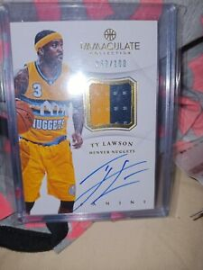 2012-13 Panini Immaculate /100 Ty Lawson #AP-TY Patch Auto