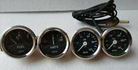 "Smiths Replica 52 mm 2 1/16"" Gauges Kit - Oil Temp + Oil + Fuel + Amp Gauge"