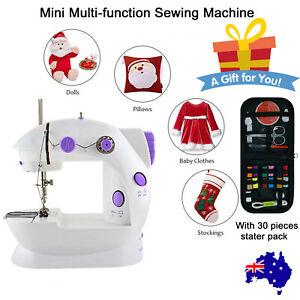Mini Electric Kids Sewing Machine Double Speed Automatic Thread Light Portable
