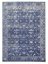 Transitional Area Rug Navy Elegant Weave Carpet Mat Shag Soft Pile Geometric