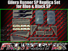 Gilera Runner SP Stickers Decals, Blue & Black, Set, Kit, Rep, 50 70 125 172 180