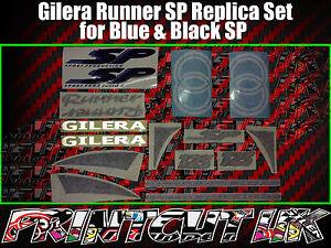 Gilera Runner SP Stickers Decals, Blue & Black, Set, Kit, Rep, 50 70 125 172 180