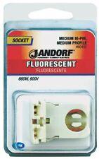 Socket Flou Bi-Pin Med Prof,No 60492, Jandorf Specialty Hardware, 3Pk