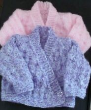Hand knitted Crossover Cardigans Early Baby, 2 Shades