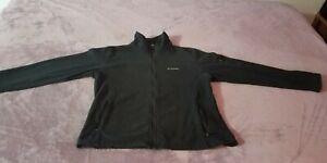 Columbia Black Full Zip Fleece with Arm Pockets Size XL