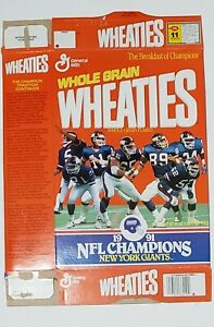 New York Giants 1991 Champions Wheaties Box
